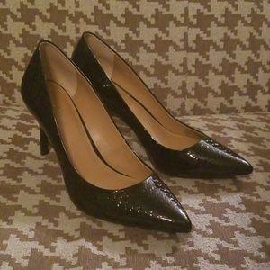 Calvin Klein Shoes - Calvin Klein Black Patent Leather Pumps